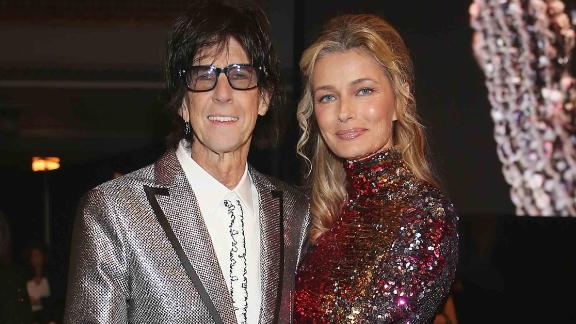 Ric Ocasek of the Cars and Paulina Porizkova attend the Rock & Roll Hall of Fame induction ceremony in Cleveland in April 2018. A few weeks later Porizkova announced on Instagram that the couple have been separated for a year.