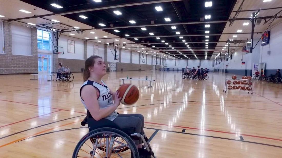 A basketball star dominates the court from a wheelchair - CNN Video