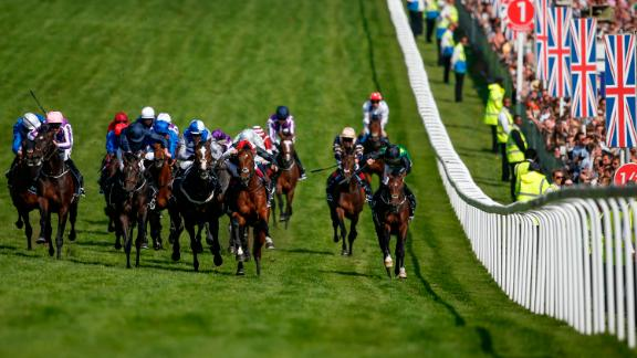 Wings Of Eagles (left, pink cap), ridden by Padraig Beggy and trained by O'Brien, was the 40-1 outsider who clinched Britain's richest race in 2017. The Derby was worth £1.625 million in 2017 with the winner receiving £921,500.
