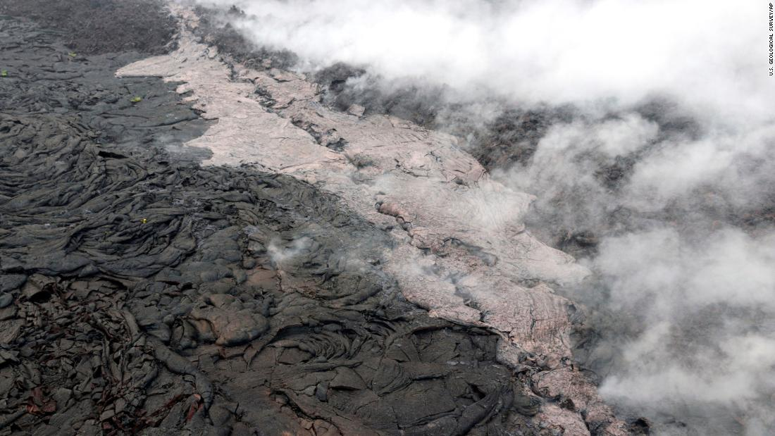 "Lava flows from a volcanic vent on Hawaii's Big Island on Tuesday, May 1.<br />Hawaii's Kilauea volcano <a href=""https://www.cnn.com/interactive/2018/05/us/hawaii-kilauea-volcano-eruption-cnnphotos/"" target=""_blank"">erupted two days later,</a> sending a smoldering flow of lava into residential areas and forcing the evacuation of nearby residents."