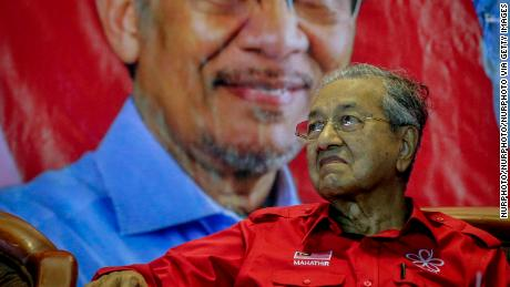 As the former head of Barisan Nasional, Mahathir Mohamad served 22 years as Malaysian prime minister before retiring in 2003.