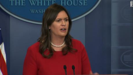 "NS Slug: WH BRFG:CAN'T CONFIRM 3 AMERICANS RELEASED  Synopsis: Sarah Sanders: Any release of three Americans from North Korean custody would be a ""sign of goodwill""  Keywords: WHITE HOUSE BRIEFING NORHT KOREA"