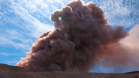 A plume of ash rises from the Puu Oo volcanic vent Thursday in this US Geological Survey photo.
