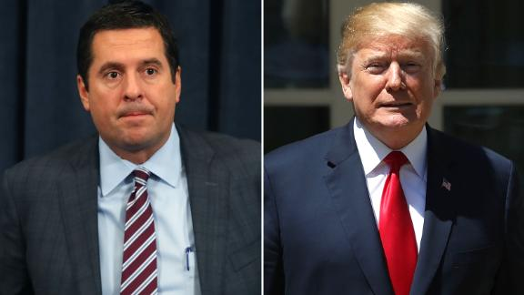 Devin Nunes and President Donald Trump