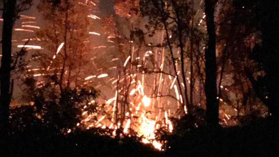 A photo provided by Shane Turpin shows the results of the Kilauea volcano