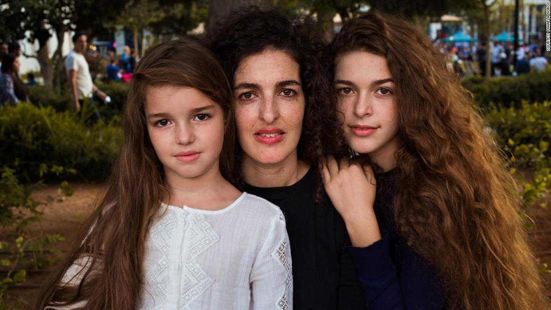 <strong>Tel Aviv, Israel: </strong>This Israeli mother was shopping with two of her five children during a fall weekend in 2016.