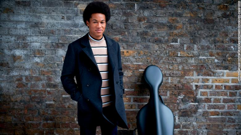 Cellist Sheku Kanneh-Mason, who will be performing at the wedding of Prince Harry and Meghan Markle, poses for a photograph.
