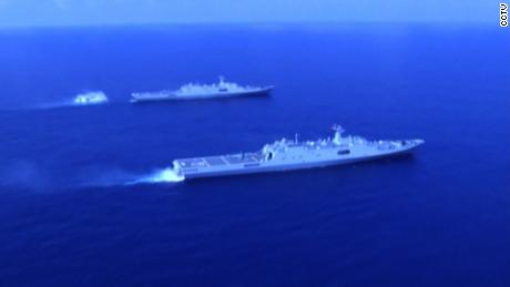 "NS Slug: FILE-CHINA DEPLOYS MISSILES TO SOUTH CHINA SEA, US SAYS  Synopsis: US intelligence assessed that there is a high probability the Chinese military had deployed anti-ship and anti-aircraft missiles to three artificial islands during recent military drills on the contested sea.  Video Shows: -Warships sailing on sea, taking on waves -Sirens alarming in drill  -Sailors: ""Get ready, the main artillery. Fire!"" -Data collectors working -Sailors in drill -Various of warships sailing on sea -Jia Zujing, team leader of Military Operation Section of one landing ship of the fleet, starting with shot 16, ending with shots 18, 19): ""We've tested and improved the amphibious warfare systems featuring amphibious landing ships and new hovercraft by collecting battlefield data, and training synergetic cooperations. The drill has helped us accumulate data for real battles, and lay the foundation for our success.""  -Various of warships, hovercraft sailing on sea, landings     Keywords: CHINA SOUTH CHINA SEA SCS MISSILES"