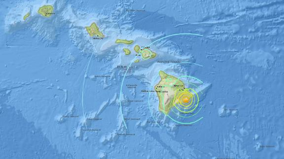 A large earthquake struck Hawaii