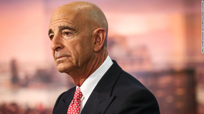 "Thomas Barrack, executive chairman of Colony NorthStar Inc., listens during a Bloomberg Television interview in New York, U.S., on Tuesday, Jan. 31, 2017. Barrack spoke about the new found optimism of CEOs and the global economic benefits of ""America First."" Photographer: Christopher Goodney/Bloomberg via Getty Images"