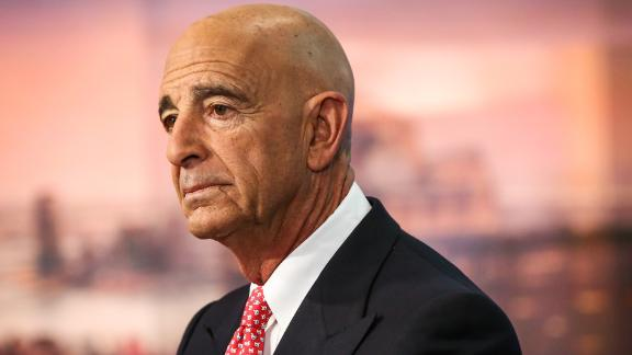 """Thomas Barrack, executive chairman of Colony NorthStar Inc., listens during a Bloomberg Television interview in New York, U.S., on Tuesday, Jan. 31, 2017. Barrack spoke about the new found optimism of CEOs and the global economic benefits of """"America First."""" Photographer: Christopher Goodney/Bloomberg via Getty Images"""
