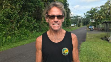 Steve Gebbie is among the hundreds forced from their homes on the Big Island after the Kilauea volcano erupted.