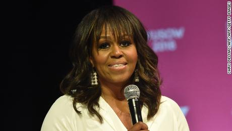 Former US first lady Michelle Obama attends the United State of Women Summit at the Shrine Auditorium in Los Angeles, on May 5, 2018. (Photo by CHRIS DELMAS / AFP)        (Photo credit should read CHRIS DELMAS/AFP/Getty Images)