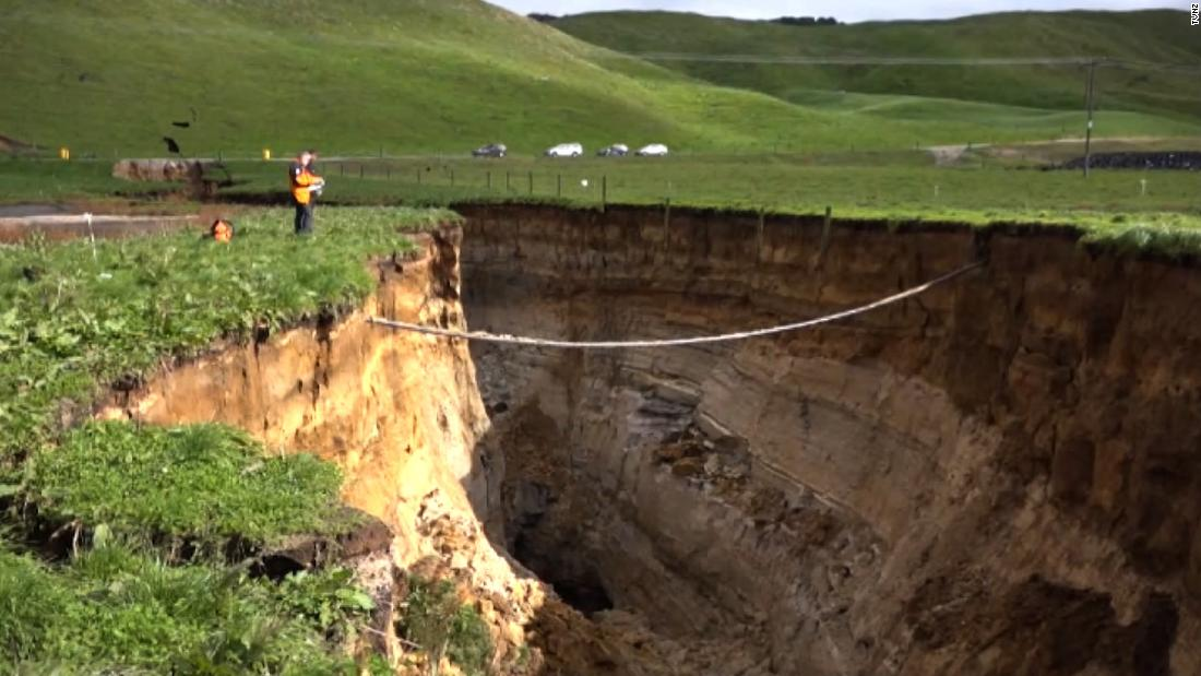 Scientists excited by huge New Zealand sinkhole
