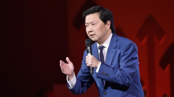 NEW YORK - APRIL 09:  (EXCLUSIVE COVERAGE)   Actor Ken Jeong speaks onstage during Stand Up To Cancer