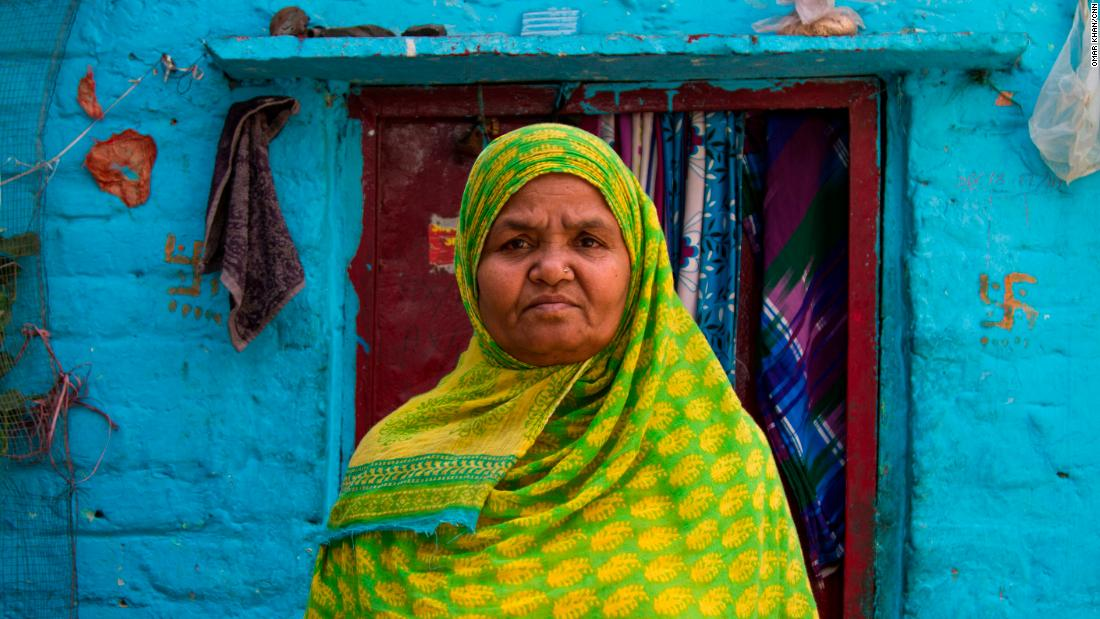 Kishwar Jahan, 60, social worker at a school in Laxmi Nagar slum