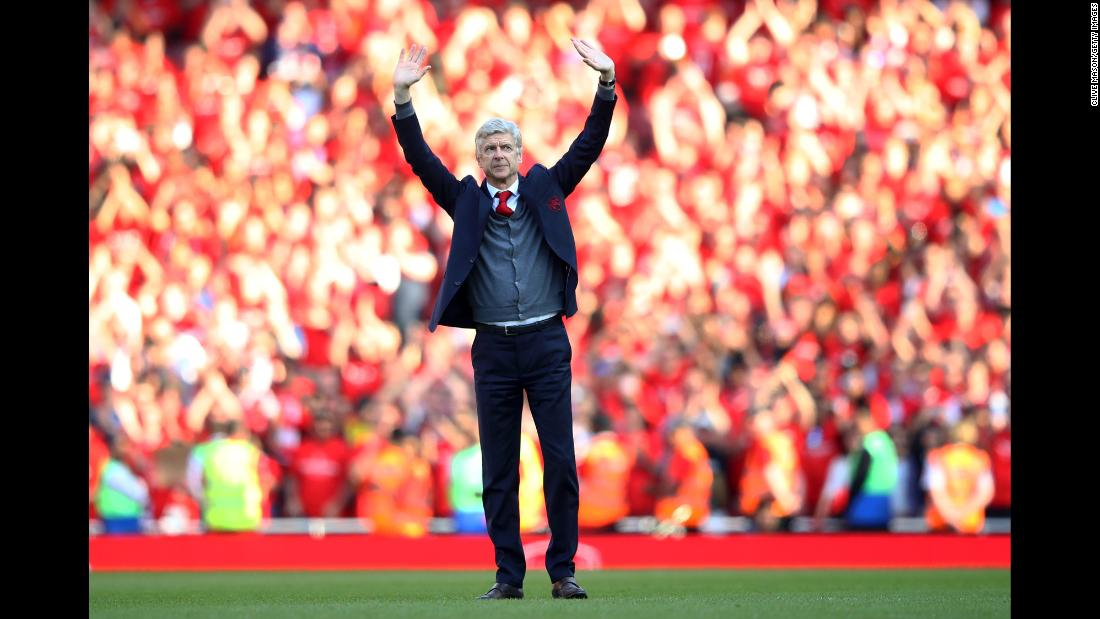 "Arsenal manager Arsene Wenger waves goodbye to fans after a Premier League match in London on Sunday, May 6. <a href=""https://www.cnn.com/2018/04/20/sport/arsenal-arsene-wenger-retire-spt/index.html"" target=""_blank"">Wenger is leaving the club</a> after 22 seasons in charge. <a href=""http://www.cnn.com/2018/04/30/sport/gallery/what-a-shot-0501/index.html"" target=""_blank"">See 26 amazing sports photos from last week</a>"