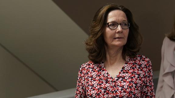 WASHINGTON, DC - MAY 07: Gina Haspel, nominee to be director of the CIA, visits the Hart Senate Office Building for meetings with senators May 7, 2018 on Capitol Hill in Washington, DC.