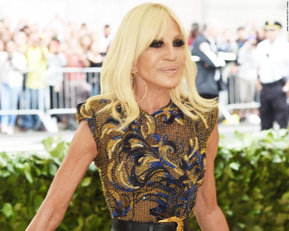 Fashion icon Donatella Versace is co-chairing this year's event with Anna Wintour, Rihanna and Amal Clooney. <br />