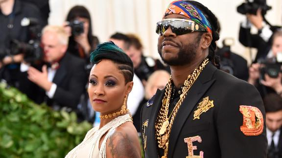 The evening even included a proposal. Rapper 2 Chainz, whose real name is Tauheed Epps, got down on one knee on the famous Met gala stairs and popped the question to Kesha Ward, with whom he has three children. She said yes, though it was unclear if this was Epps