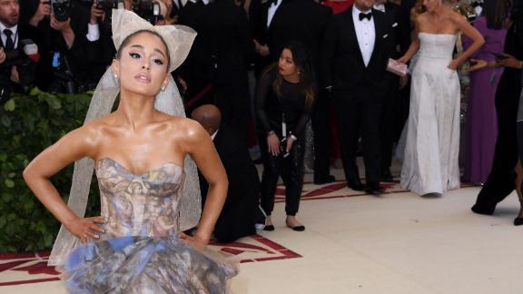 Ariana Grande was wearing a dress designed by Vera Wang.