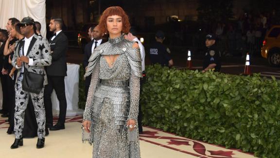 Zendaya was wearing an armor-inspired dress, channeling saint Joan of Arc.