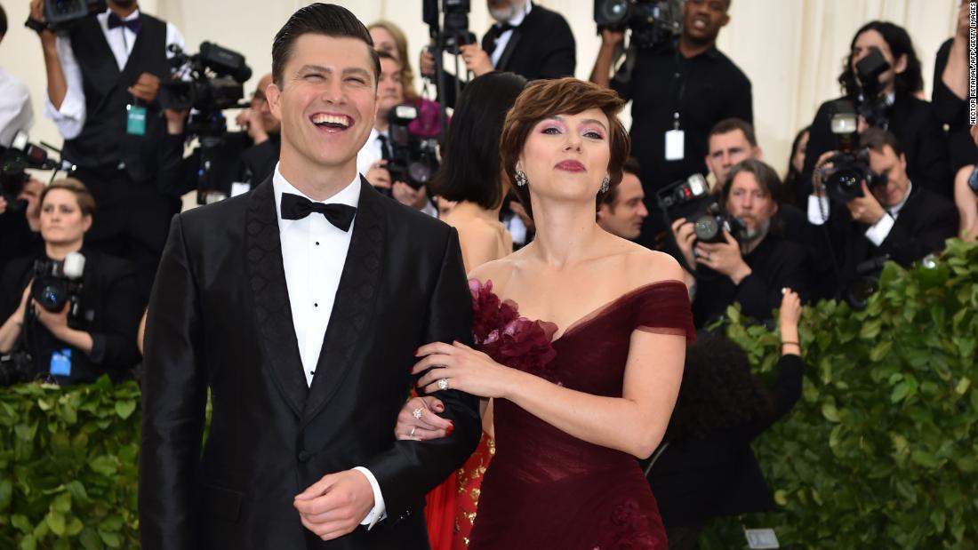 Scarlett Johansson calls Colin Jost's proposal a 'whole James Bond situation'