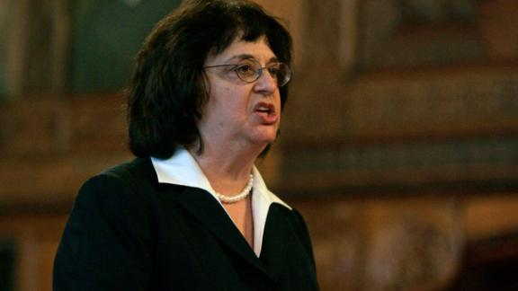 Solicitor General Barbara Underwood argues before the Court of Appeals in Albany, New York, in 2008.