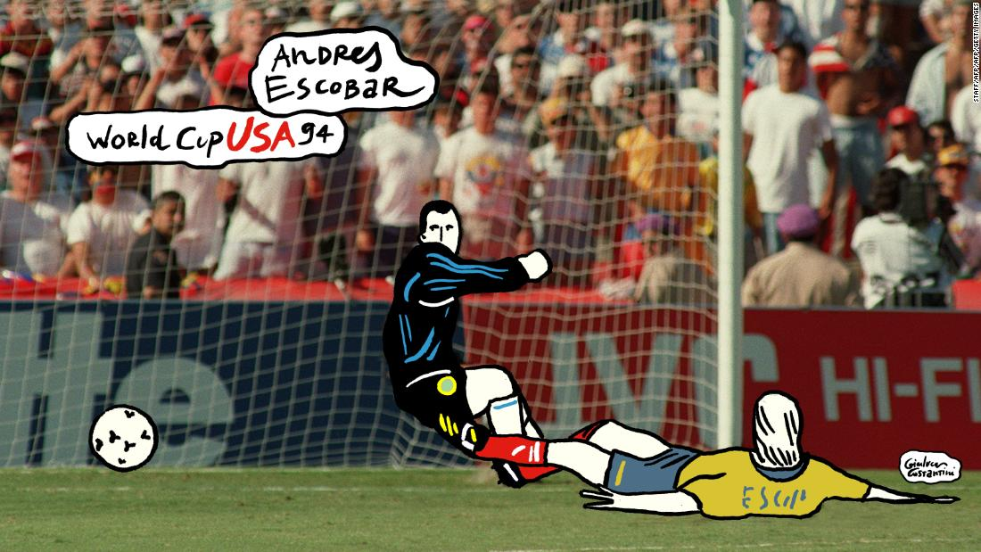 81988c48f An own-goal by Colombia  39 s Andres Escobar had tragic consequences.  Photos  Key World Cup moments