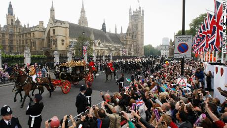 Thousands of well-wishers from around the world flocked to London to witness the spectacle and pageantry of the royal wedding of Prince William, Duke of Cambridge, and Catherine, Duchess of Cambridge, on April 29, 2011.