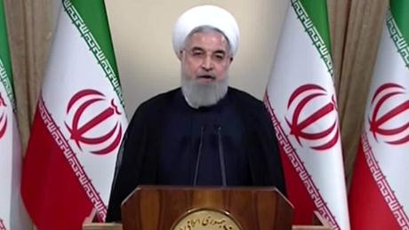 Iranian President Hassan Rouhani addresses the nation in the wake of Trump's announcement.