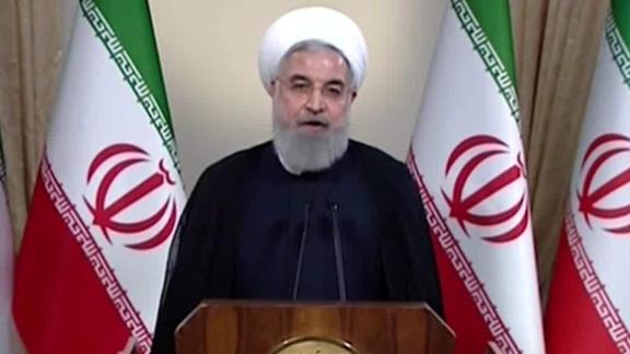 Iranian President Hassan Rouhani addresses the nation in the wake of Trump