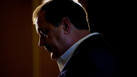 U.S. Senate Republican primary candidate Don Blankenship is interviewed by media outlets following the closing of the polls May 8, 2018 in Charleston, West Virginia.