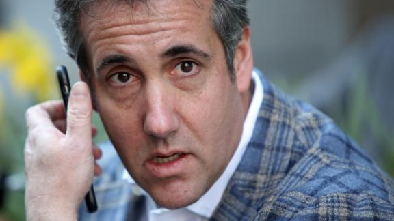Michael Cohen, . President Donald Trump's personal attorney, takes a call near the Loews Regency hotel on Park Ave in this  April 13, 2018 file photo in New York.