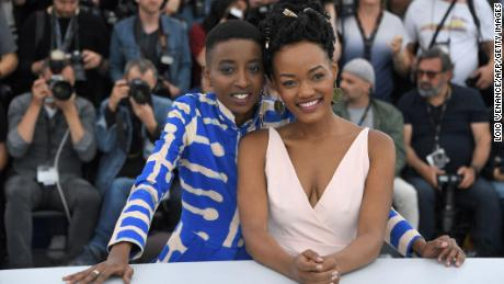 Kenyan actors Samantha Mugatsia and Sheila Munyiva at Cannes Film Festival.