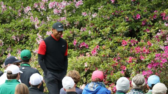 Tiger Woods starts as one of the favorites but finishes tied 32nd in his first Masters for three years.