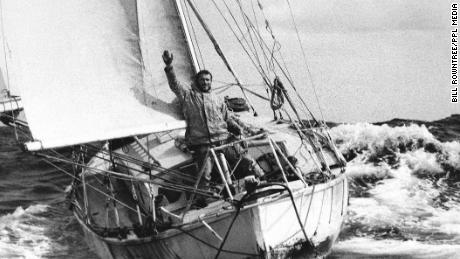 The first man to sail round the world solo