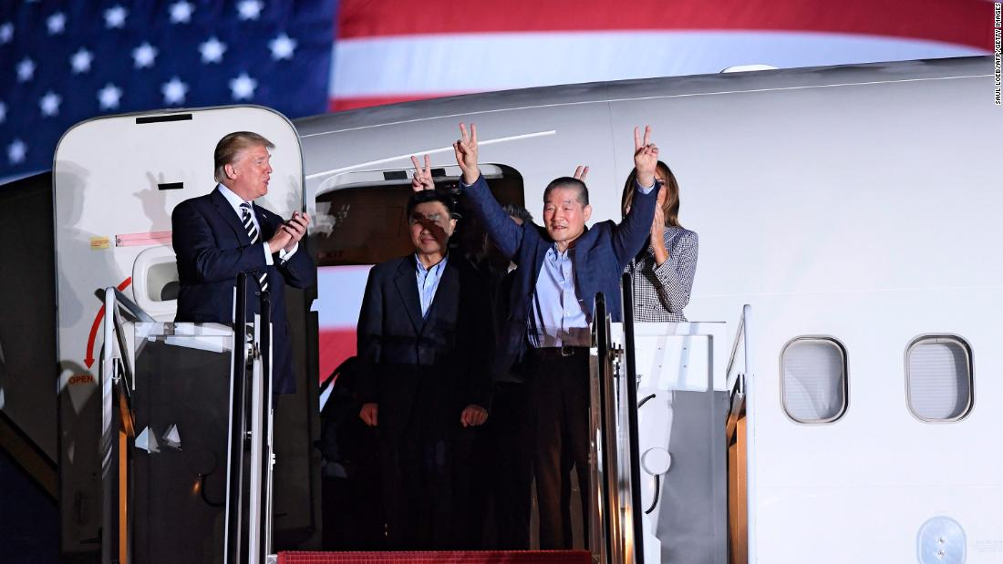 Why Donald Trump talked about 'ratings' standing next to 3 recently freed prisoners