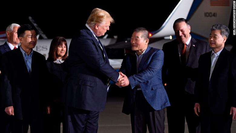 History in the making as Trump welcomes prisoners home