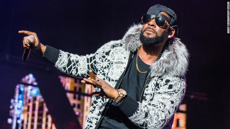 R. Kelly performs at Little Caesars Arena in Detroit on February 21.
