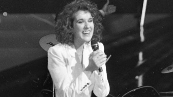 Eurovision Song Contest Winner Celine Dion of Switzerland in 1988.