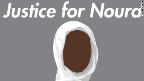 An illustration used in the change.org campaign for Noura Hussein.