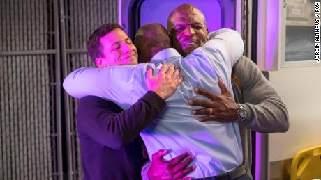 "Andy Samberg and Terry Crews in the ""Bad Beat"" episode of ""Brooklyn Nine-Nine."""