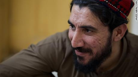 Activist Manzoor Pashteen, seen during a CNN interview in May 2018.