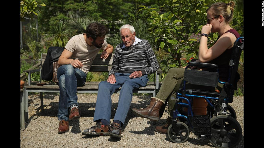 "Australian scientist David Goodall, 104, sits with two of his grandchildren while touring botanical gardens in Basel, Switzerland, on Wednesday, May 9. Goodall, who had campaigned for the legalization of assisted dying in his home country, <a href=""https://www.cnn.com/2018/05/10/health/david-goodall-australian-scientist-dies-intl/index.html"" target=""_blank"">ended his life</a> the next day at a Swiss clinic. Goodall said he hoped his story would lead to the legalization of assisted dying in other countries."