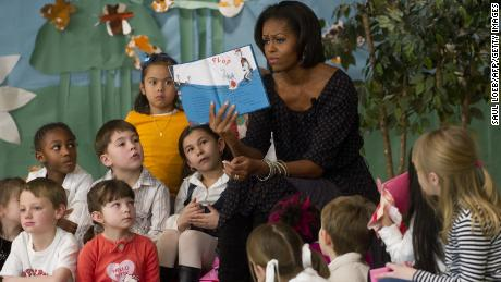 "Philip Nel is the author of ""Was the Cat in the Hat Black?: The Hidden Racism of Children's Literature, and the Need for Diverse Books."" Pictured here, Michelle Obama reads ""Cat in the Hat"" to a group of children."