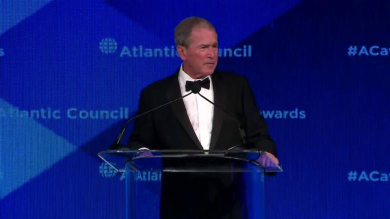 bush atlantic council isolationism churchill sot _00000000