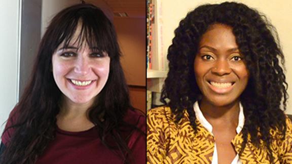 Sarah Braasch, left, and Lolade Siyonbola