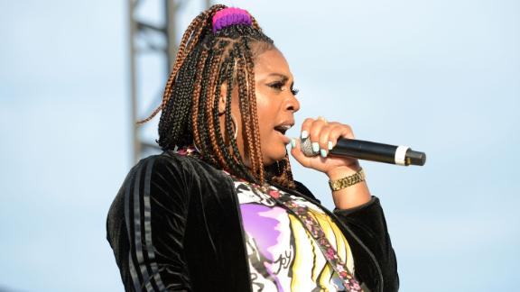 Rapper Kamaiyah performs onstage during the Day N Night Festival at Angel Stadium of Anaheim on September 8, 2017 in Anaheim, California.