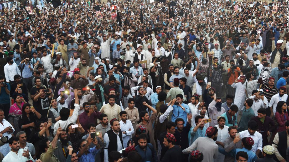 Thousands of protesters defied officials by attending a rally organised by Pakistan's Pashtun Protection Movement (PTM) in Lahore on April 22.